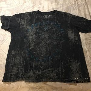 Men's AFFLICTION Embossed Embroidered Graphic Tee